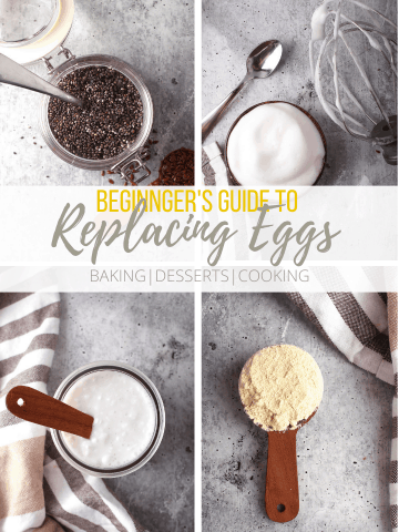 A collage of different egg substitutions