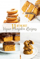The BEST sweet vegan pumpkin recipes from around the internet. You can enjoy pumpkin all season long with this deliciously sweet seasonal roundup. From bread to doughnuts to cookies, there is a pumpkin recipe for everyone.