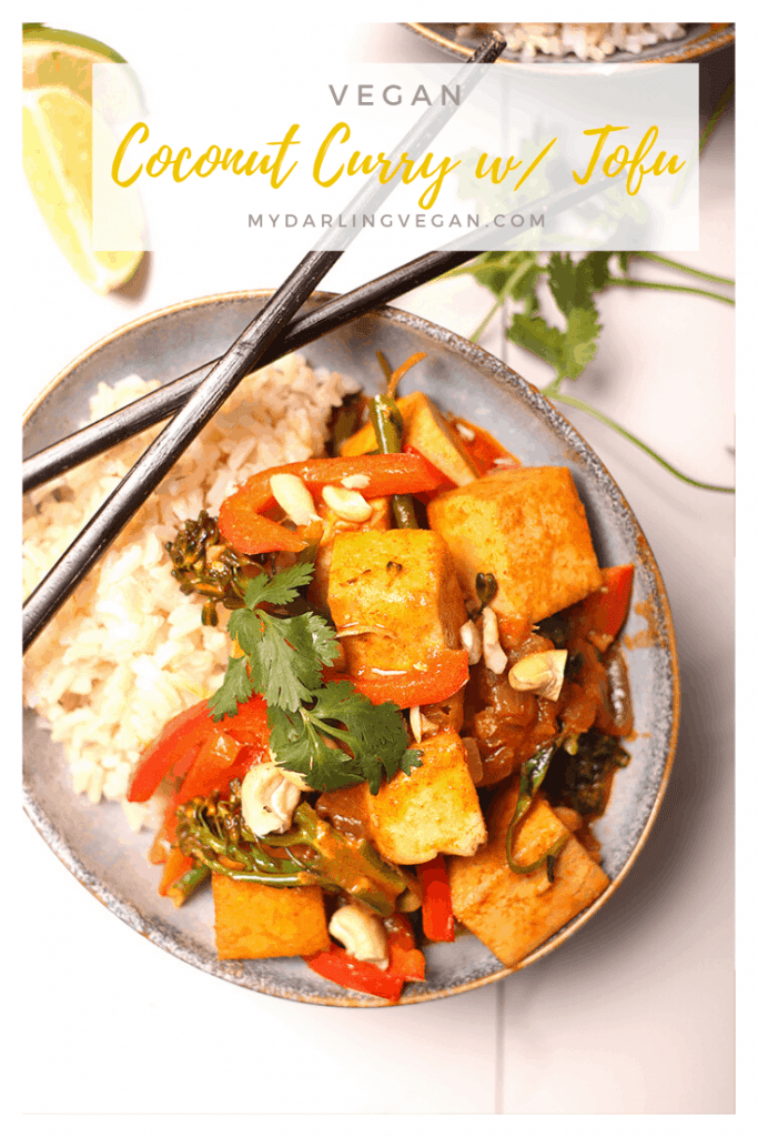 You're going to love this rich and creamy coconut curry with tofu and broccolini. A hearty and delicious Thai curry for the perfect vegan and gluten-free dinner.