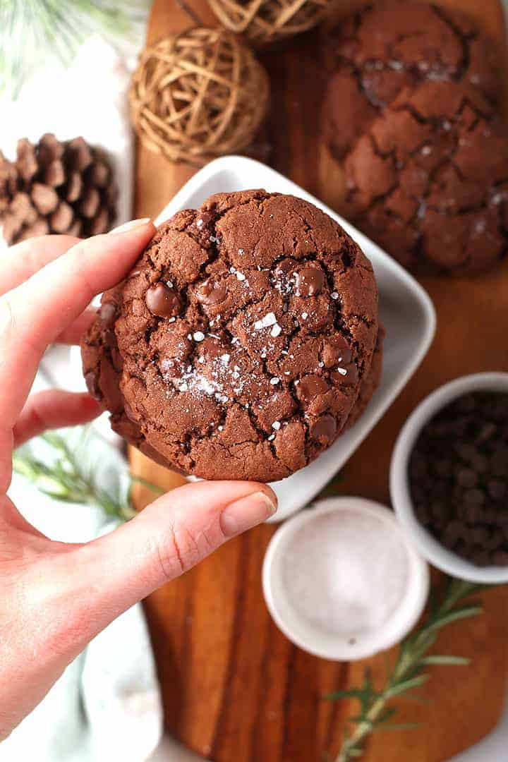 Salted Chocolate Rosemary Cookies
