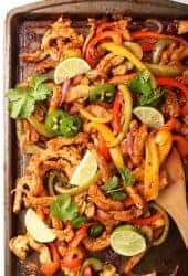 Sheet pan vegan fajitas