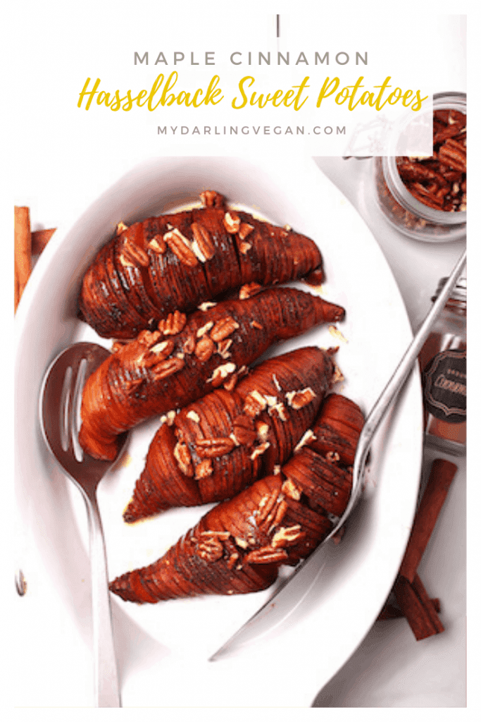 Elevate your holiday table to a new level with these Maple Cinnamon Hasselback Sweet Potatoes. It's a new twist on the classic sweet potato casserole that everyone will love.