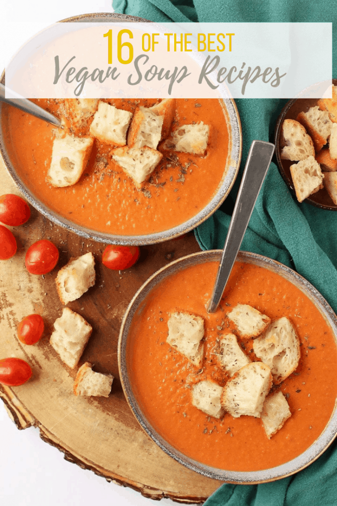 There is nothing quite like a warm and comforting bowl of vegan soup. You are going to LOVE these 16 vegan soup recipes. Taken from around the internet, this is the most delicious and cozy soup recipe roundup ever! Let's get cooking.