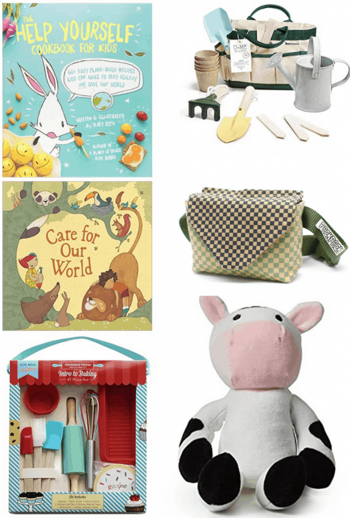 An assortment of vegan gifts for the kids