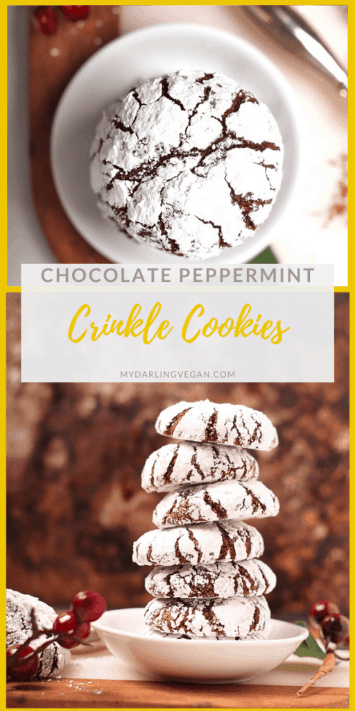 Everyone loves these chocolate crinkle cookies. Rich, fudgy, and filled with peppermint flavor, these cookies make the perfect addition to your holiday treats. But be careful; they are highly addictive!
