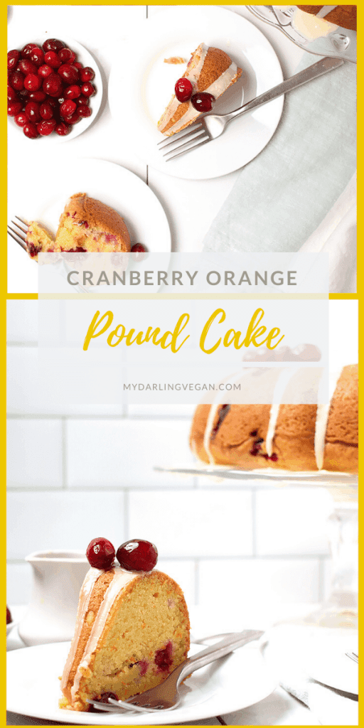 A sweet and tart Christmas dessert, this vegan Cranberry Orange Pound Cake is bursting with holiday flavors. Serve it at your next holiday party or bring it as a hostess gift. It's a hit every time!