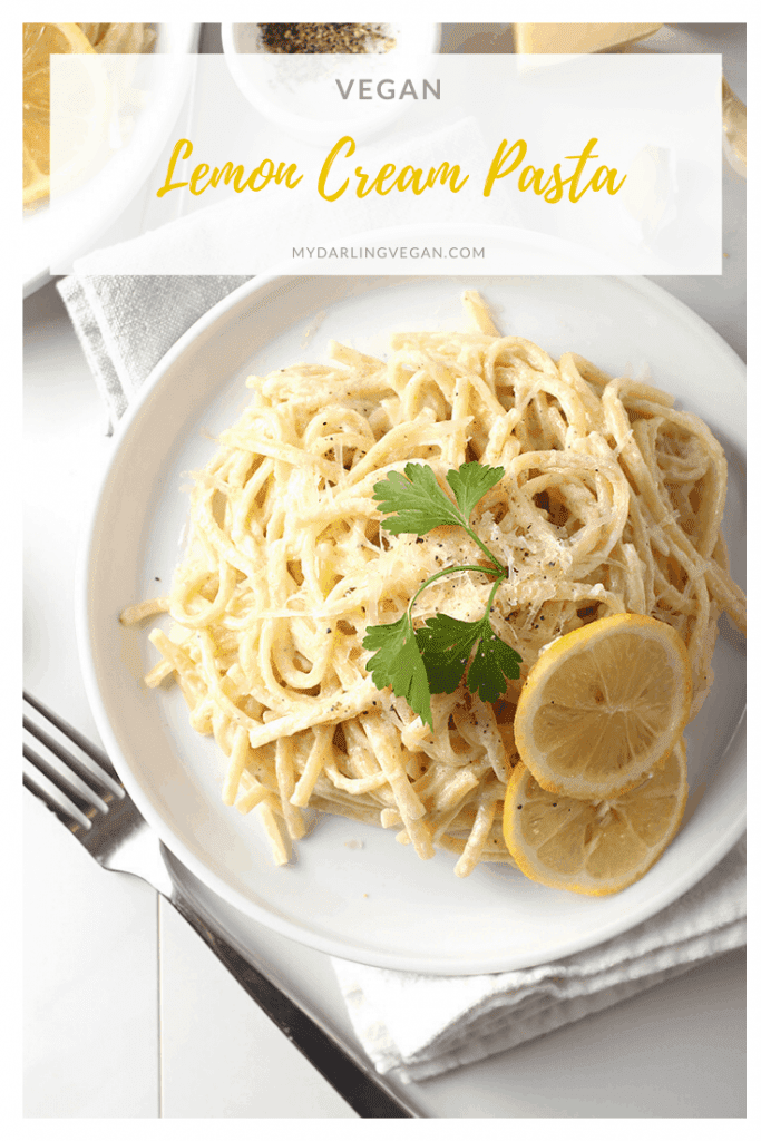 A simple and delicious meal, this Vegan Lemon Pasta with Cashew Cream Sauce can be made in under 30 minutes for the perfect weeknight or special occasion dinner. Serve it with a caesar salad or artisan bread for an impressive Italian feast.