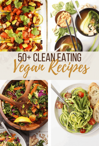 A collage of healthy vegan recipes