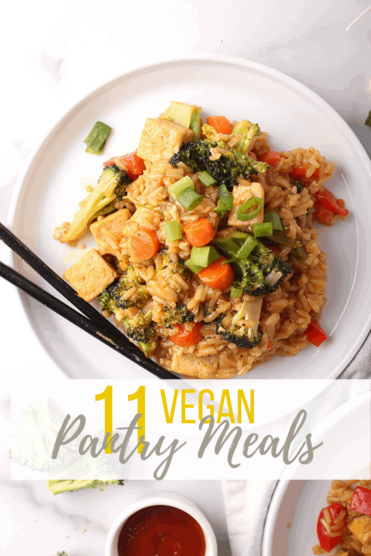 11 Vegan Pantry Meals made from non-perishables and canned goods. For all of life's unexpected moments, it's always good to have wholesome and convenient meals on hand. Hearty dinner meals the whole family will love.