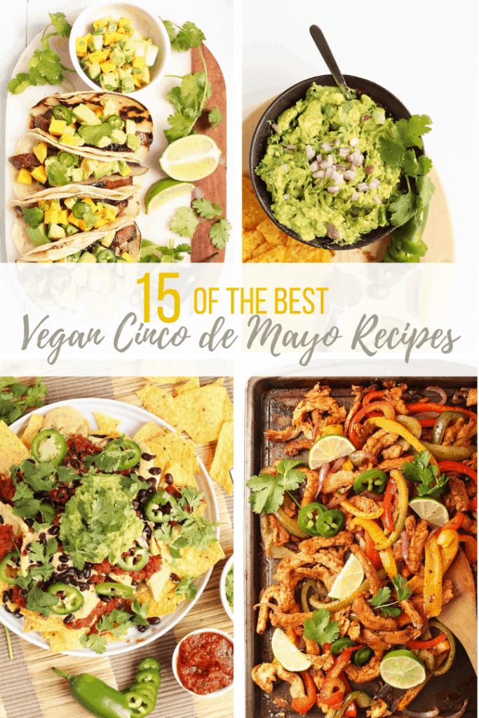 A collage of four different cinco de mayo recipes