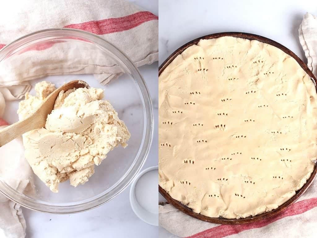 Sugar cookie dough in a mixing bowl