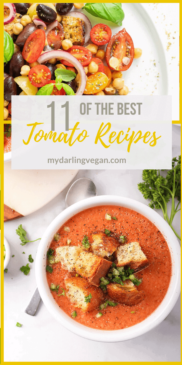Tomatoes are the perfect late summer vegetable. They are sweet, tart, filled with nutrients, versatile, and oh so prolific. With so many delicious vegan tomato recipes to make, let's celebrate!