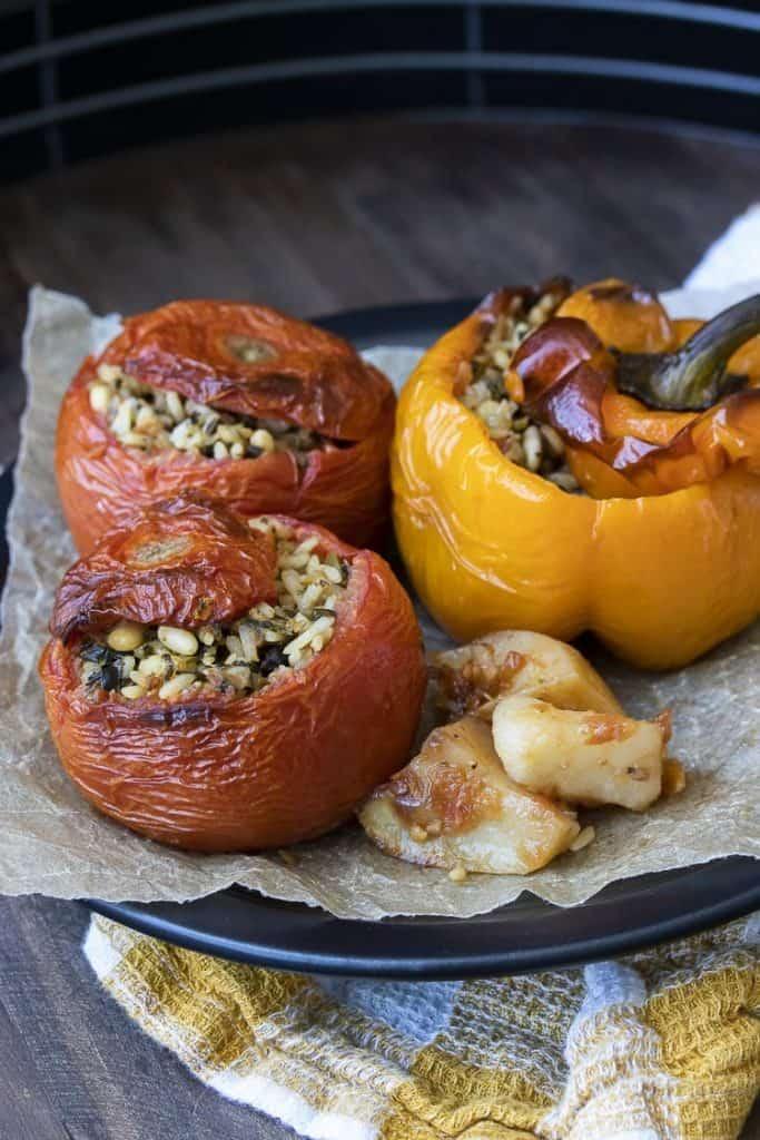 Greek Style Stuffed Tomatoes