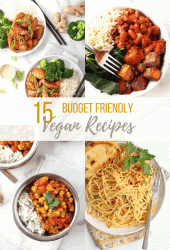 Struggling to find cheap vegan meals? I've got you covered! These 15 budget vegan recipes will have you eating well without breaking the bank. Plus tips on saving money, where to get your groceries, and more!