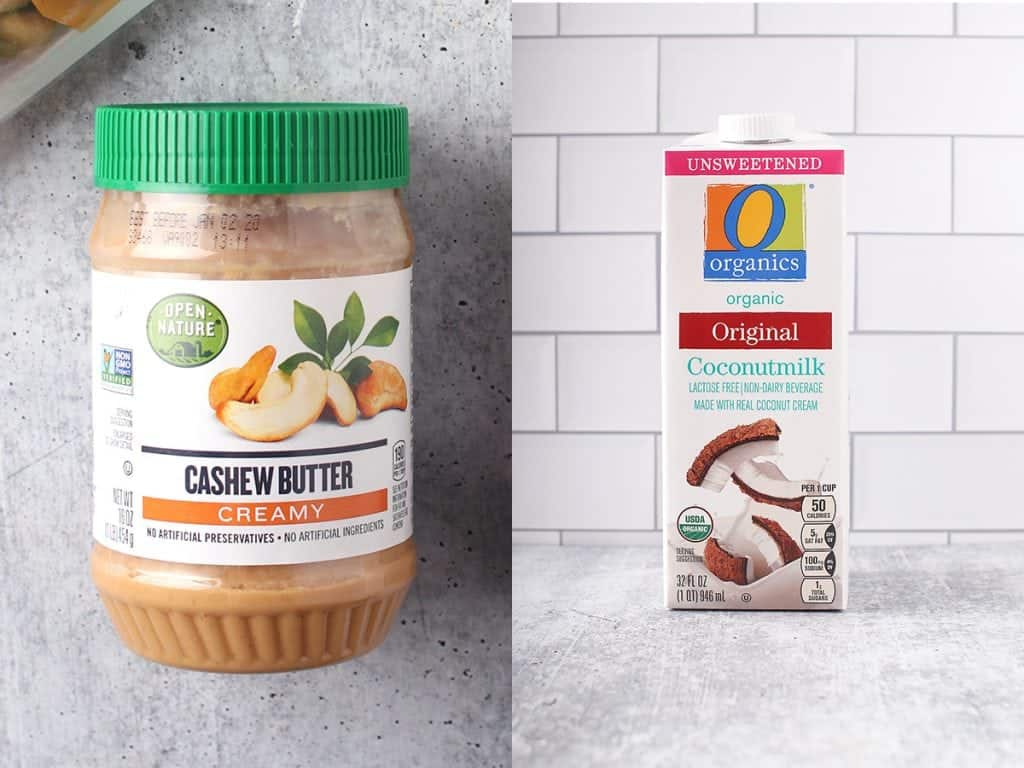Open Nature Cashew Butter and Simply Organic Coconut Milk