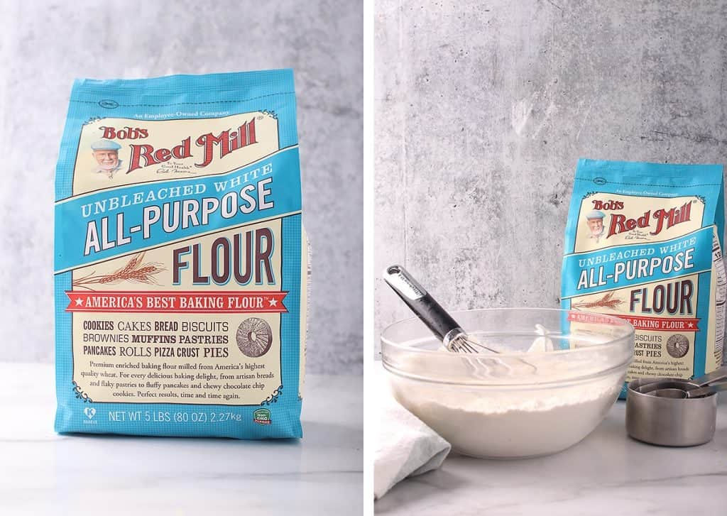 Bob's Red Mill Flour in a glass bowl