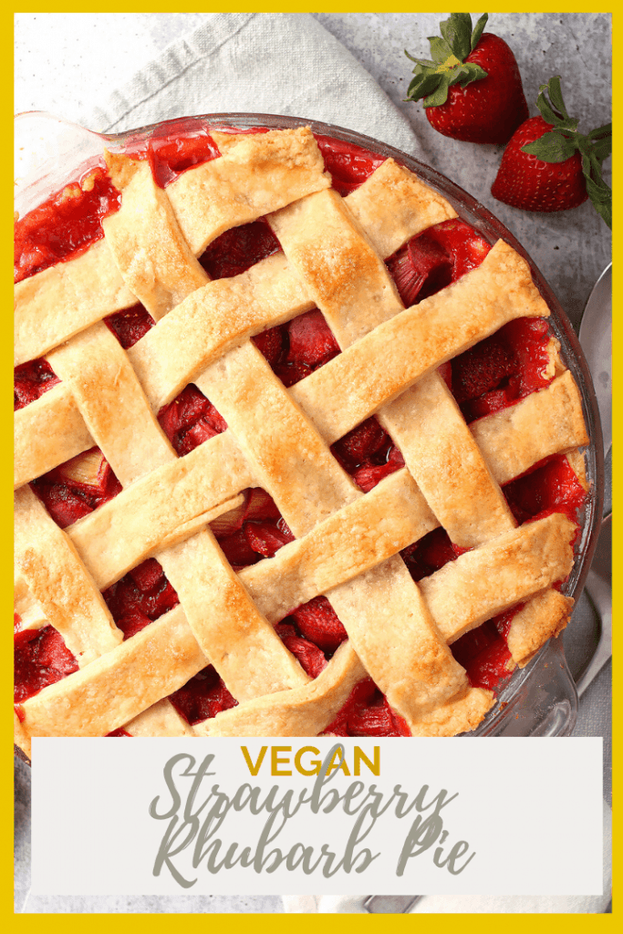This classic Vegan Strawberry Rhubarb Pie is the perfect summertime dessert. The filling can be made in advance for a quick and easy treat the whole family will love.