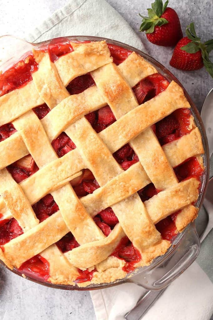 Whole Strawberry Rhubarb Pie