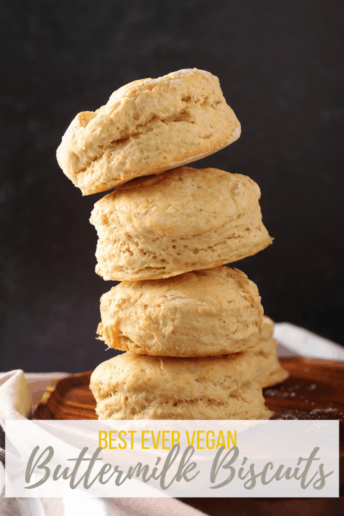 Vegan buttermilk biscuits are the perfect side dish to any family dinner. With only a few ingredients (that you probably already have!) this easy biscuit recipe comes together in less than 10 minutes!
