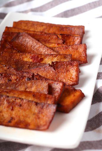 Homemade Vegan Bacon Strips