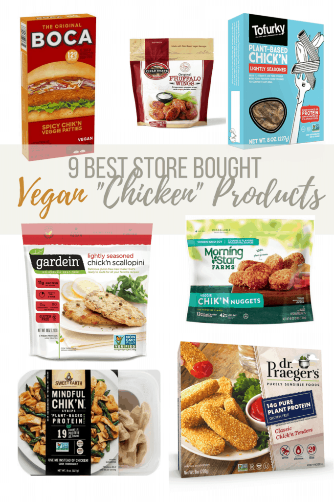 7 different types of store bought vegan chicken