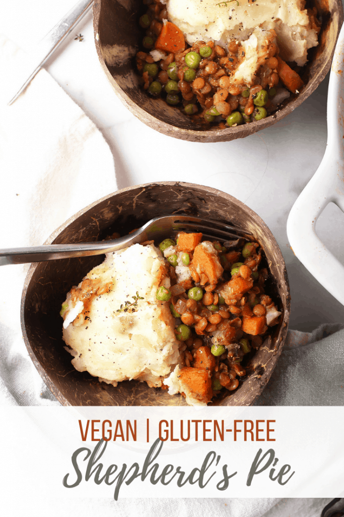 This Vegan Shepherd's Pie is the perfect comfort food for cold winter nights. It is a delicious plant based and gluten free casserole to serve alongside your holiday meal or enjoy as an easy weeknight meal during the winter months.