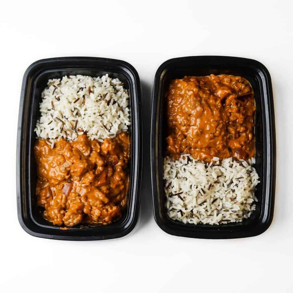 Red Lentil and Cauliflower Curry over rice