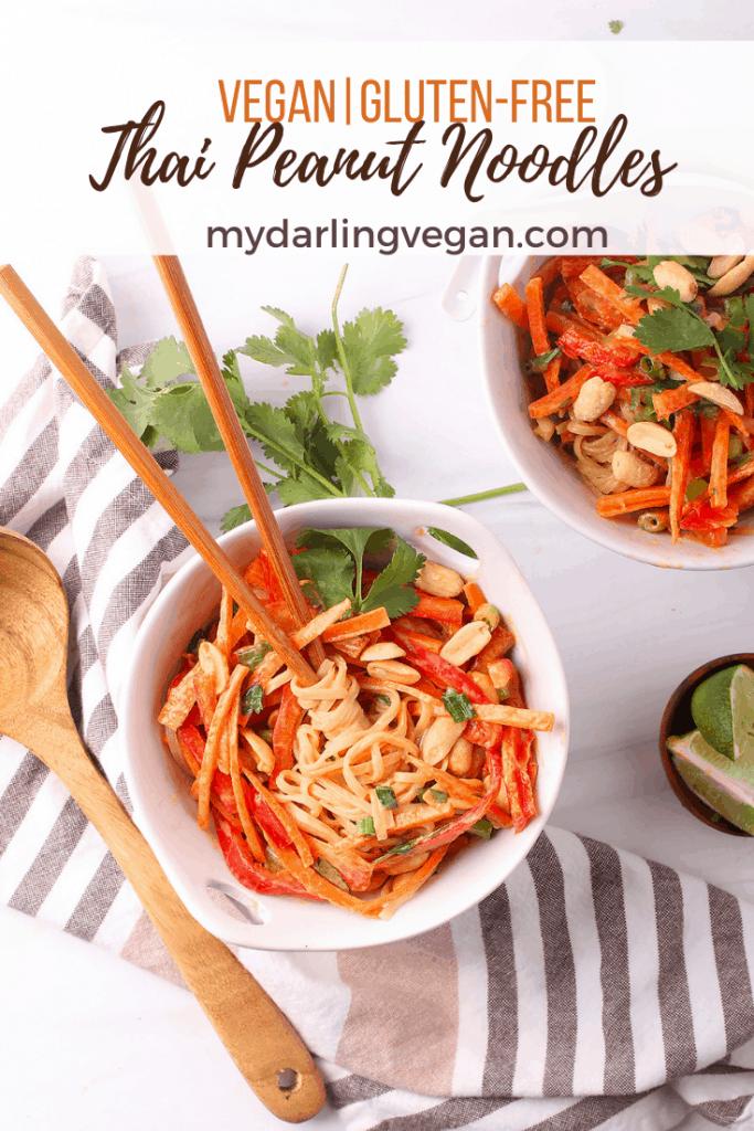 Thai Vegan Peanut Noodles
