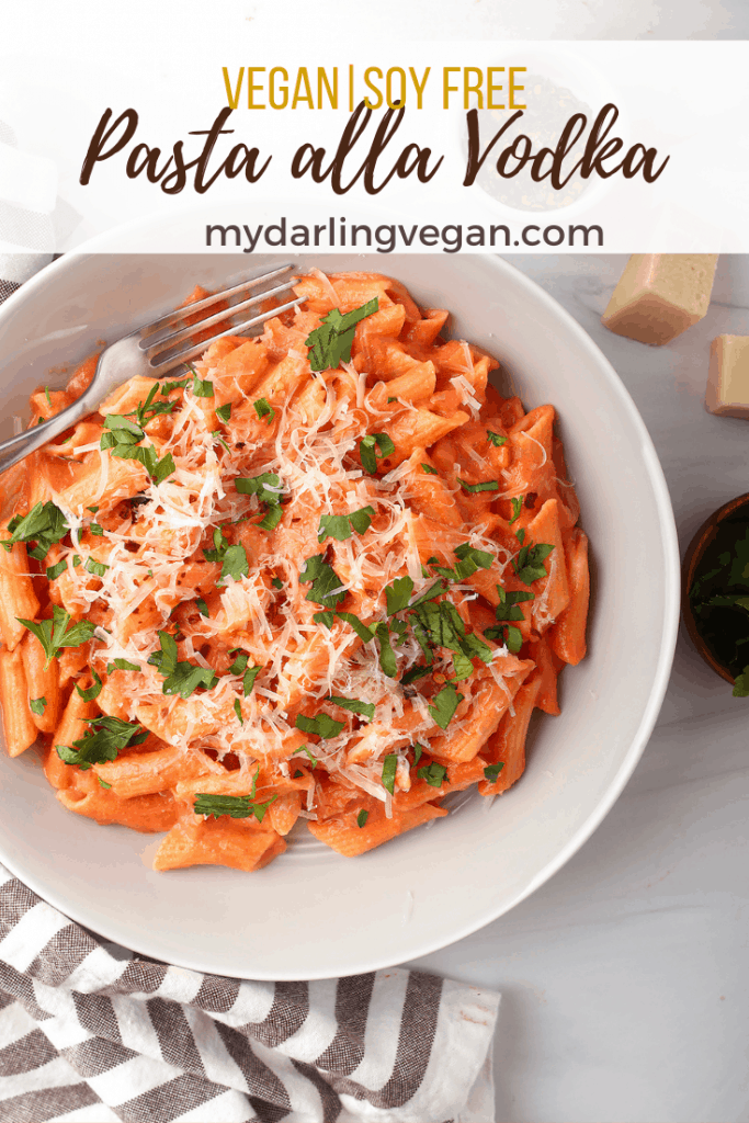 This deliciously creamy Penne Pasta with Vegan Vodka Sauce is so rich and decadent that you'd never guess it was dairy free! Penne noodles are tossed in a mildly spicy tomato cashew cream sauce for a restaurant quality dish made in the comfort of your home.