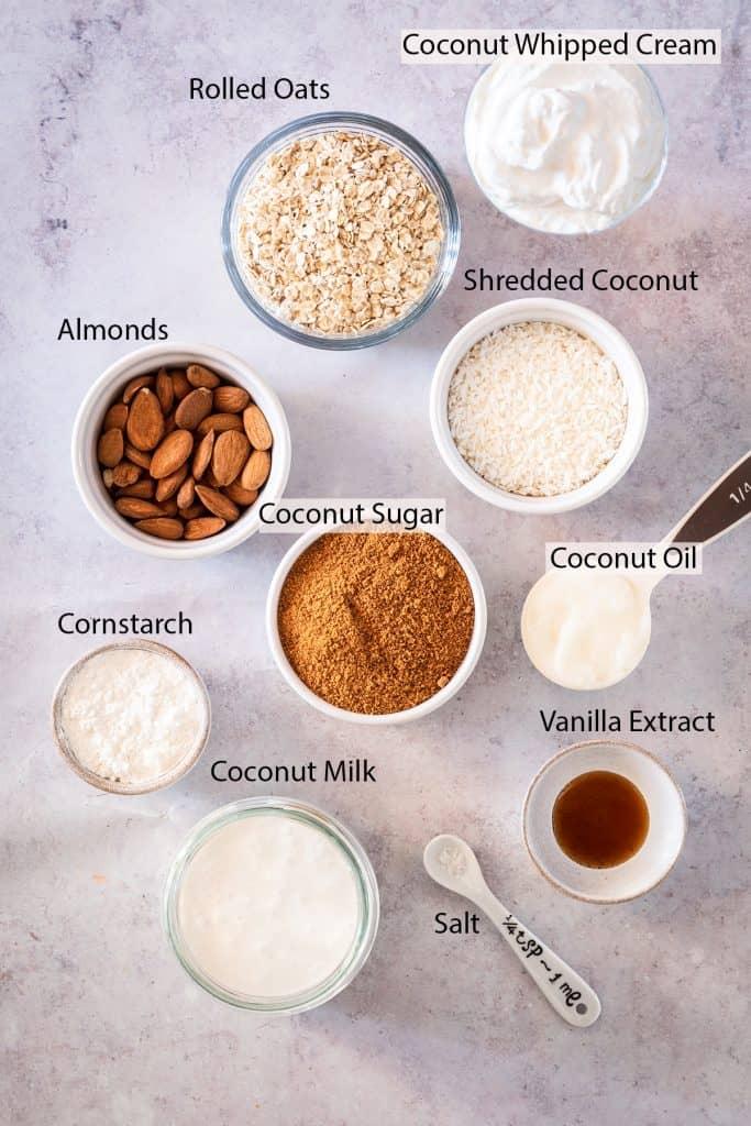 vegan coconut cream pie ingredients