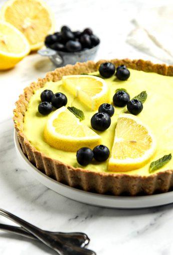 Vegan Lemon Tart (Gluten Free!)
