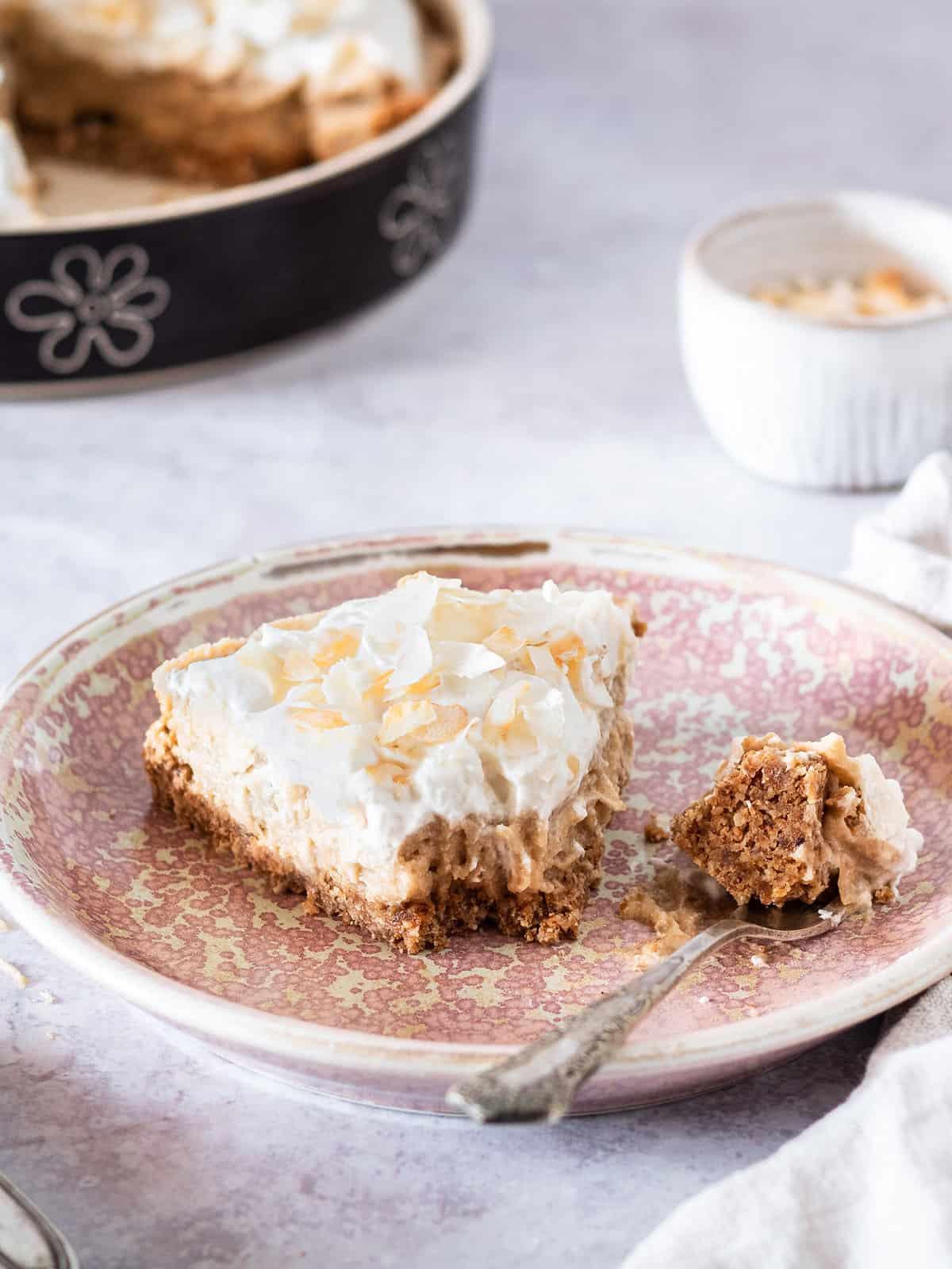 healthy coconut cream pie