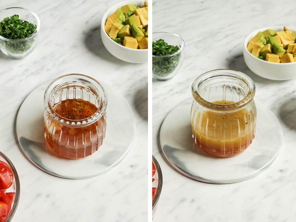 process shots for red wine vinegar
