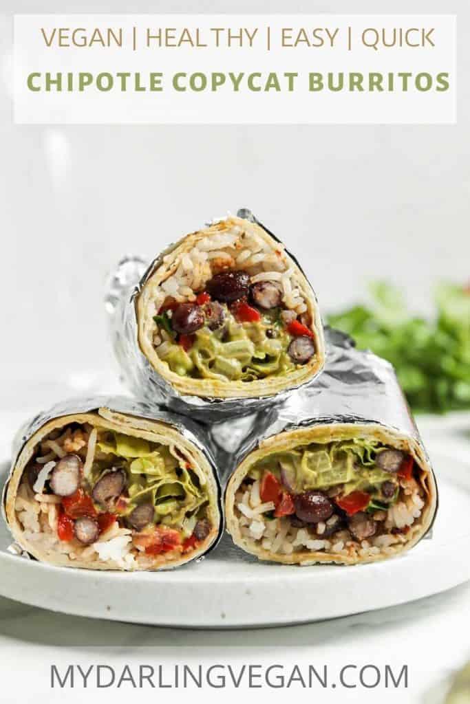 three burritos on a plate