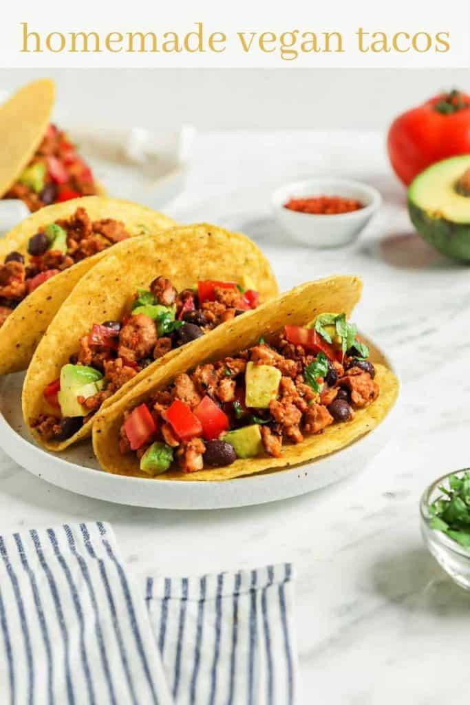 vegan tacos on plate