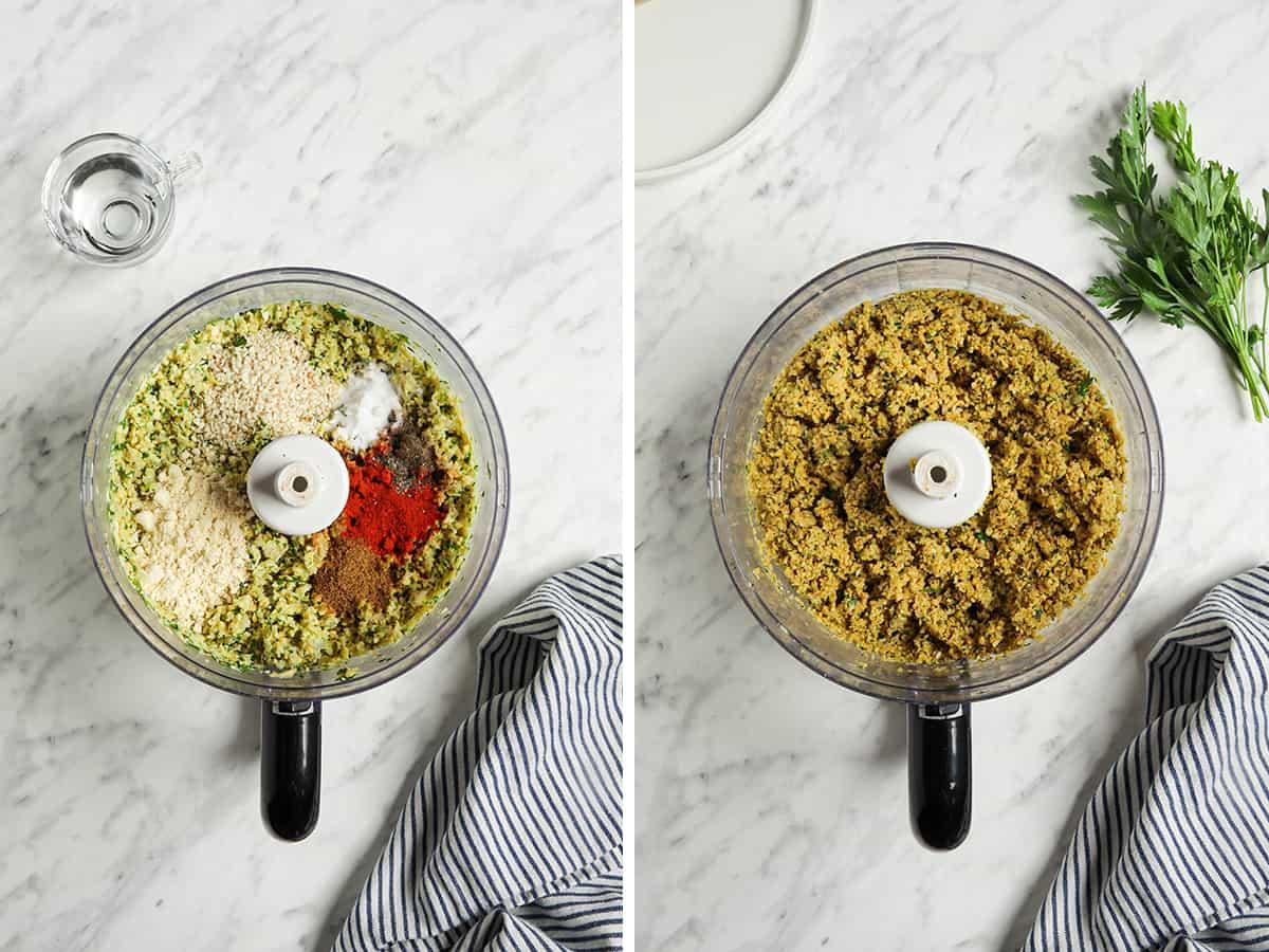 food processor with seasonings