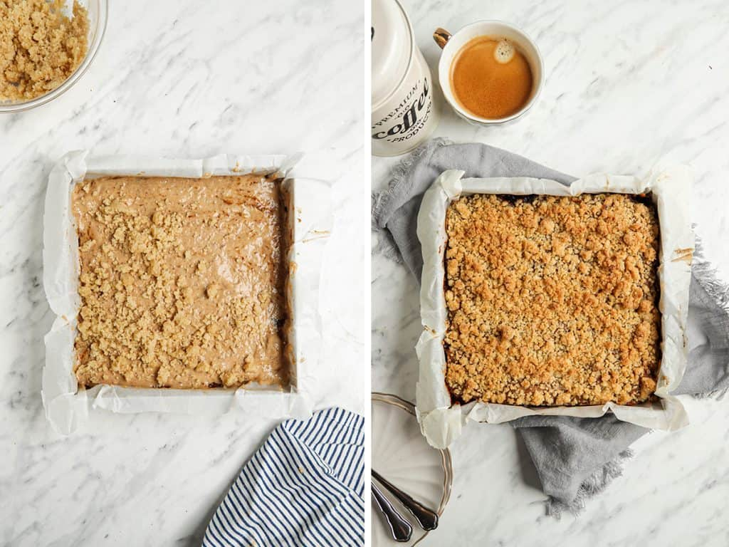 baked coffee cake in pan