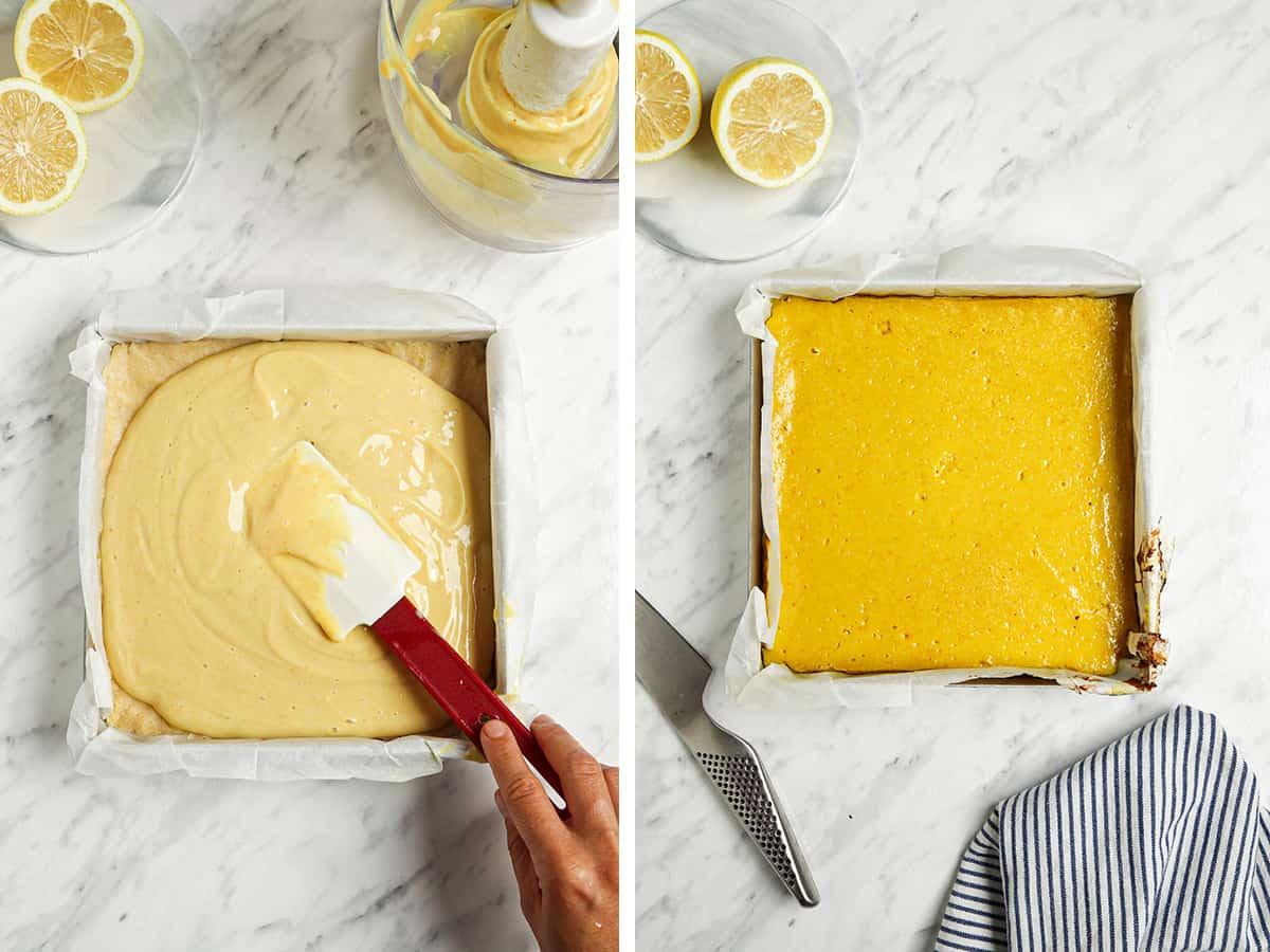 lemon curd in pan