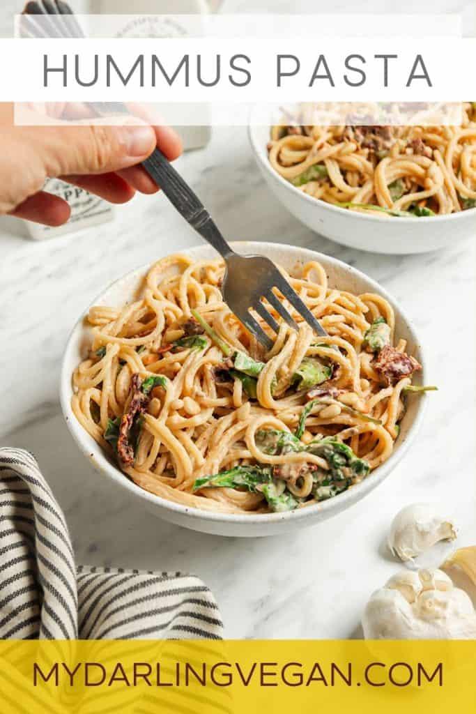 graphic for hummus pasta