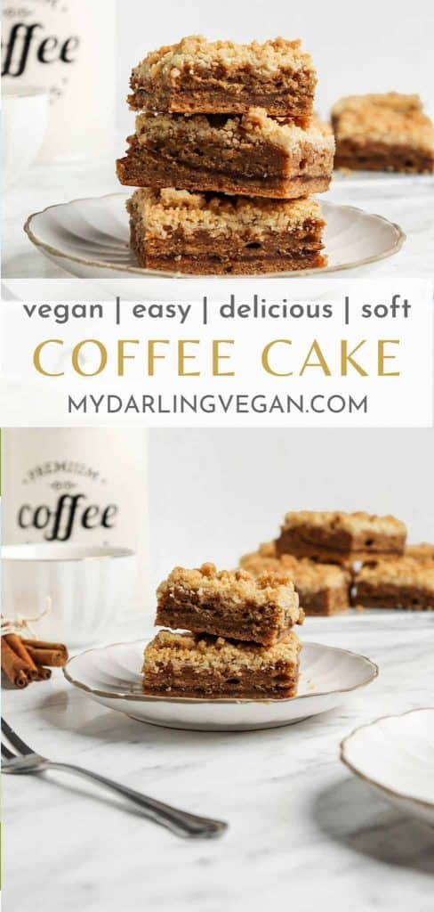 two coffee cake images for Pinterest