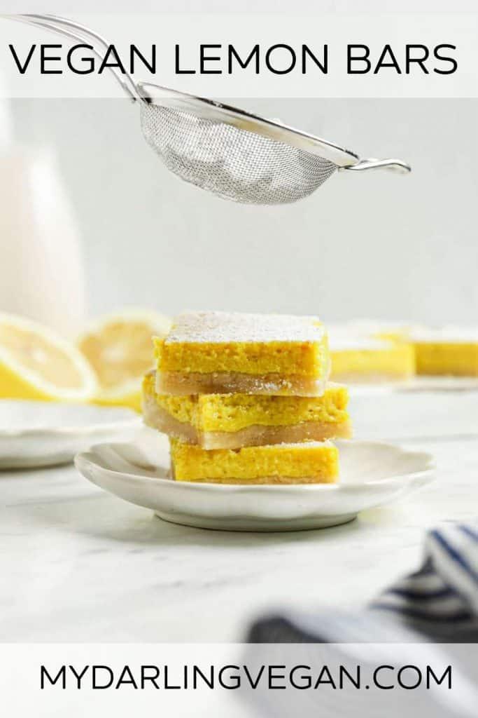 Pinterest graphic for lemon bars