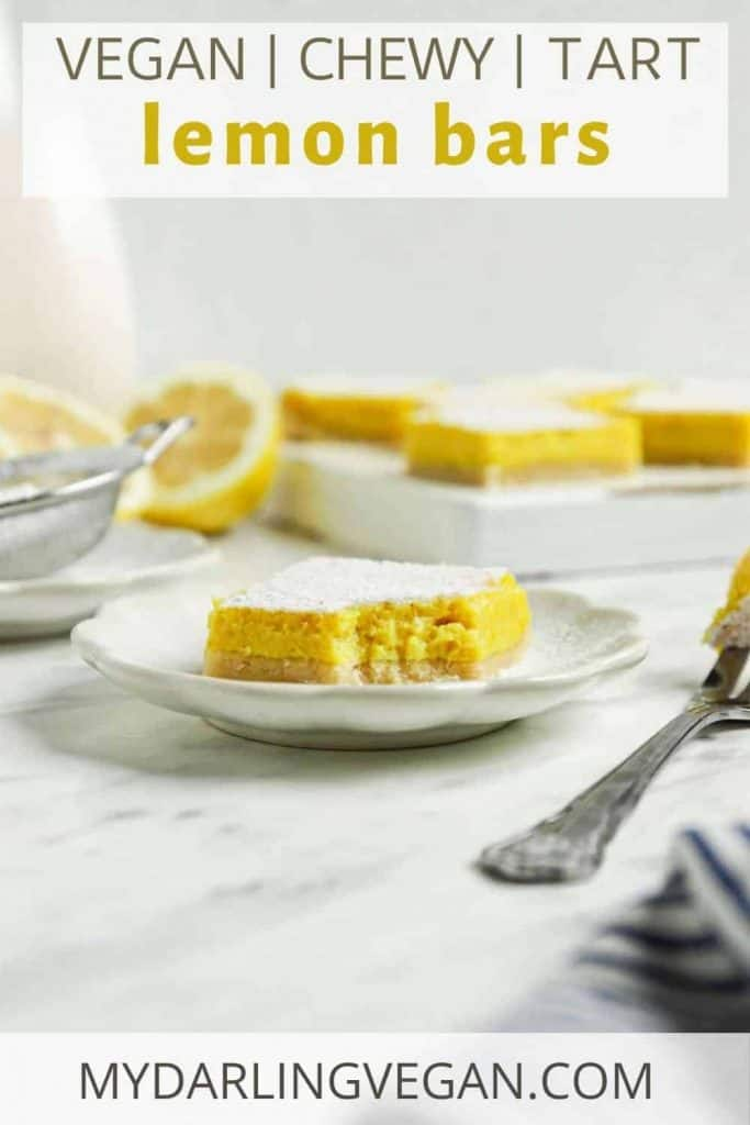 one lemon bar on plate