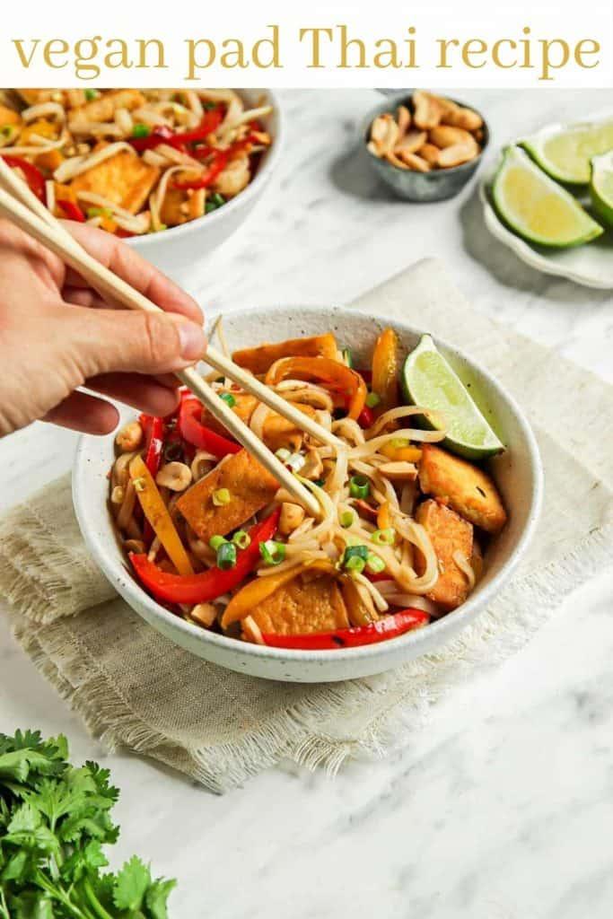 graphic for vegan pad Thai