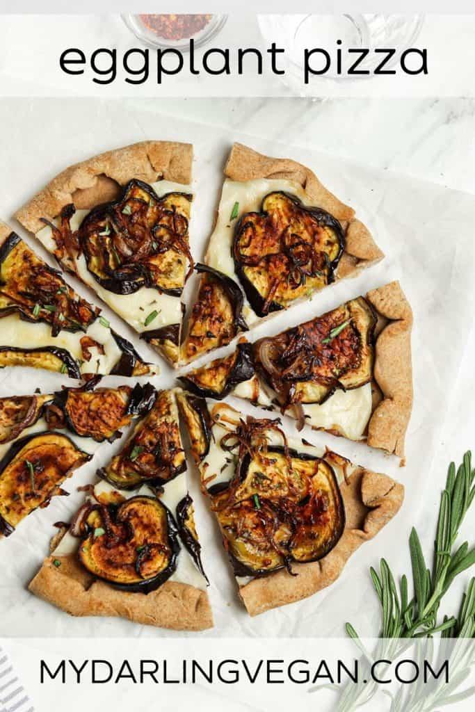 eggplant pizza graphic photo