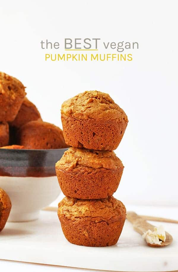 Fall into fall with these deliciously moist and perfectly flavored vegan pumpkin muffins. An easy fall pastry that will warm up your home. #vegan #pumpkin #pumpkinrecipes #fallrecipes #veganmuffins #muffins #pastries #breakfast #mydarlingvegan