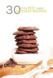 Stack of double chocolate cookies
