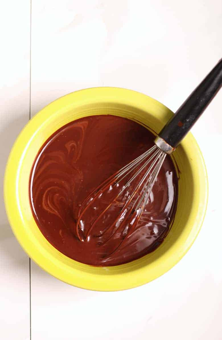 Chocolate Ganache in bowl