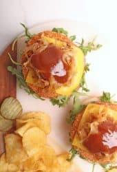 Open-faced Vegan Chicken Sandwich