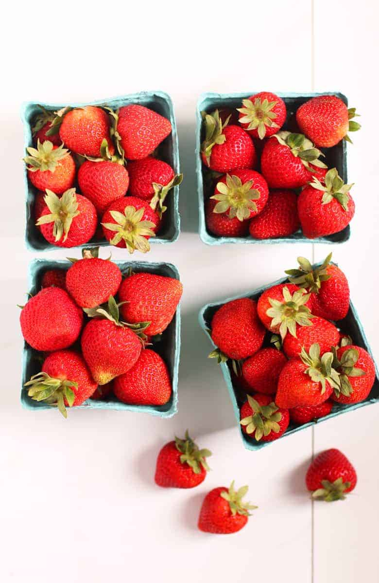 4 pints of fresh strawberries