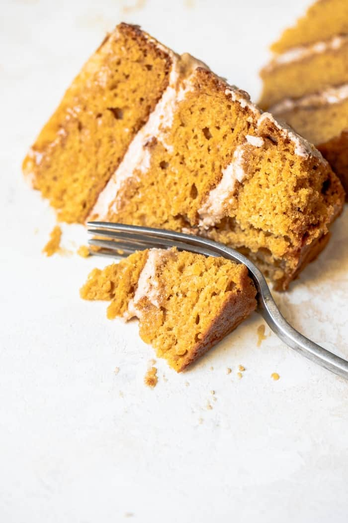 Vegan layered pumpkin cake